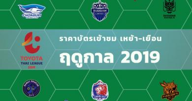 เช็คข้อมูล 16 ยอดทีมไทยลีก