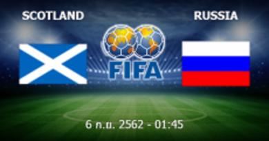 สกอตแลนด์ - รัสเซีย